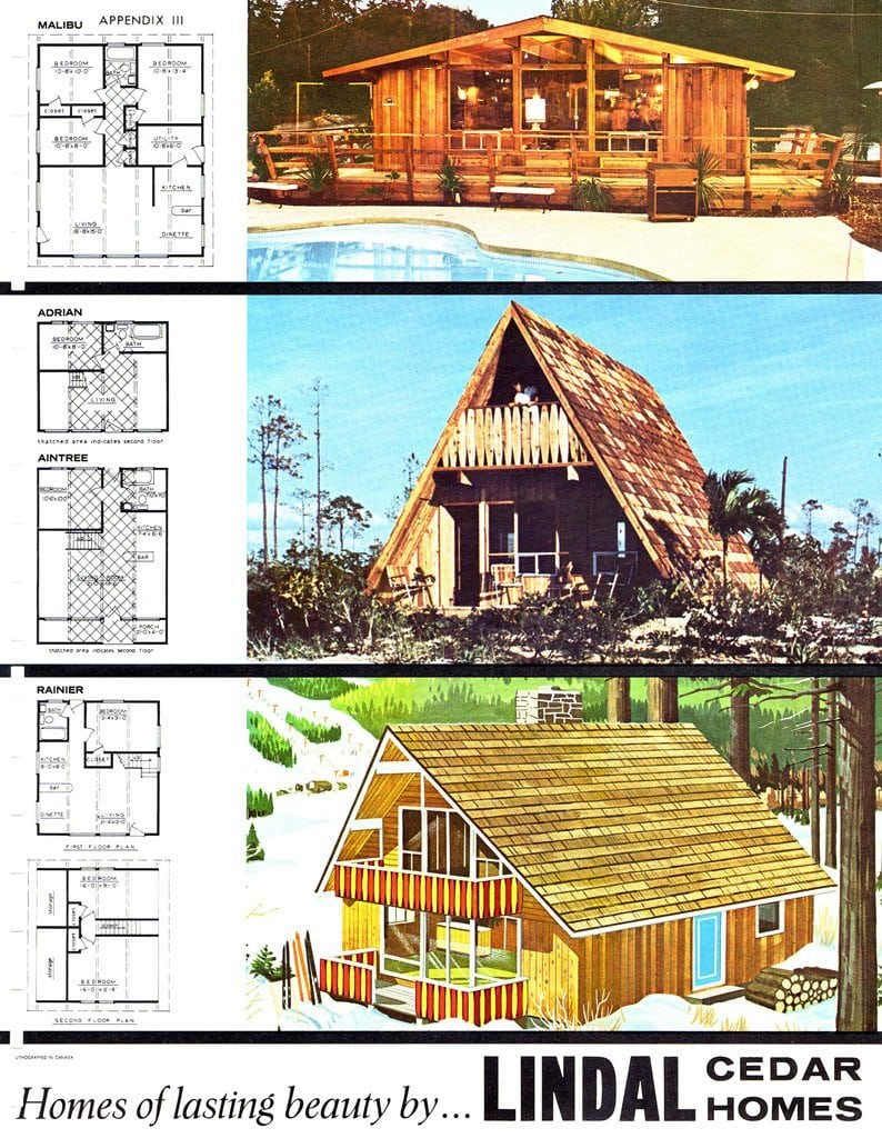 Historical Plans From Lindal Cedar Homes.