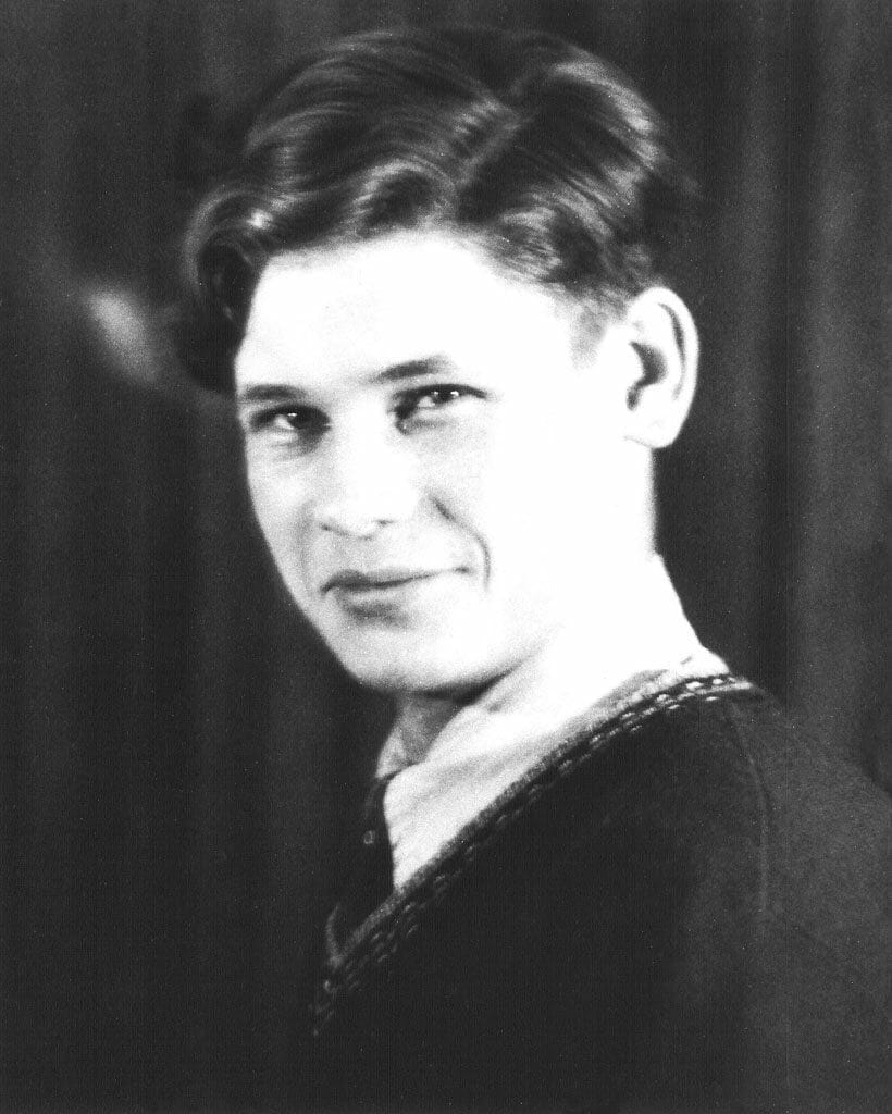 Sir Walter Lindal in his youth.