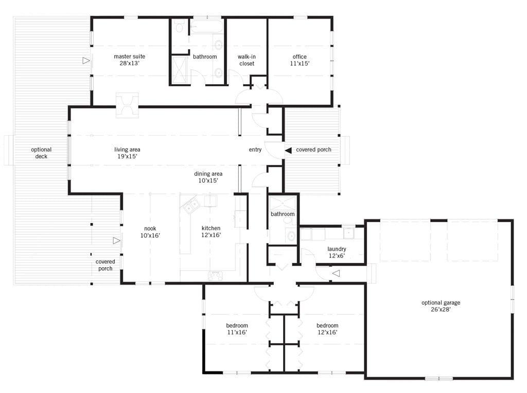 Beaumont ranch lindal cedar homes for Lindal homes floor plans