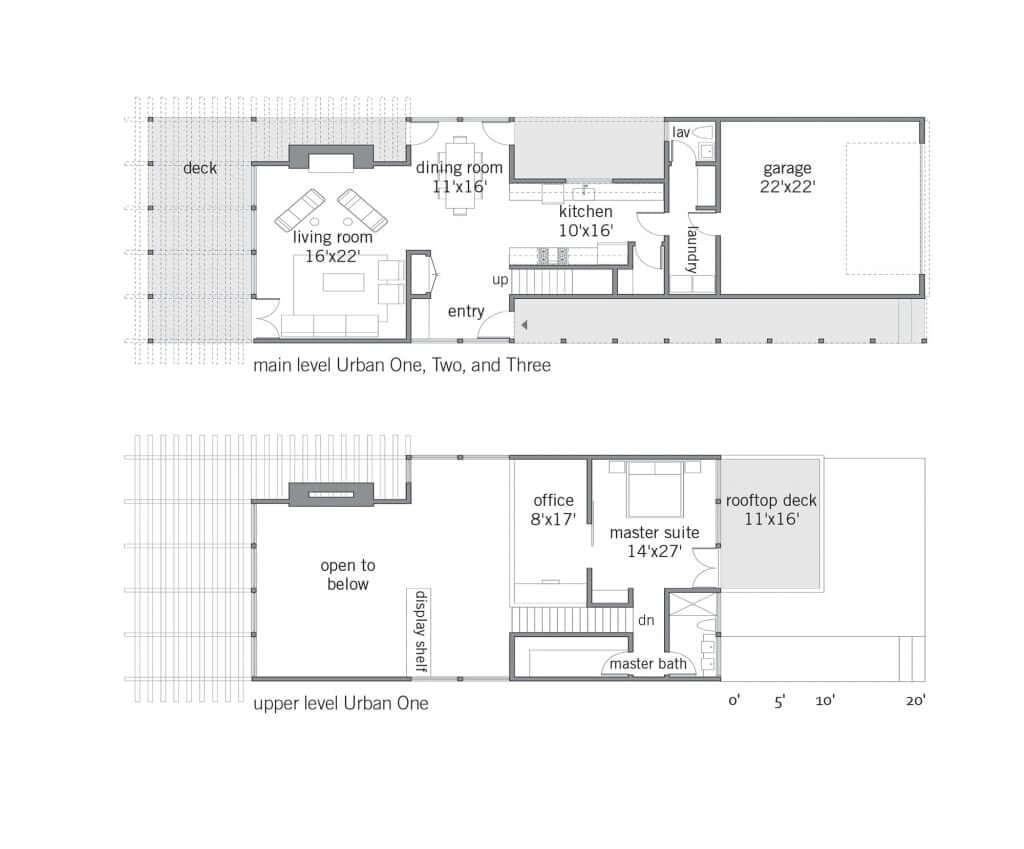 Urban one lindal cedar homes for Lindal homes floor plans