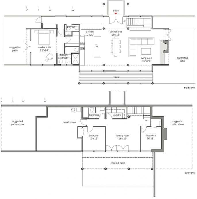 Dwell homes collection lindal cedar homes for Dwell floor plans