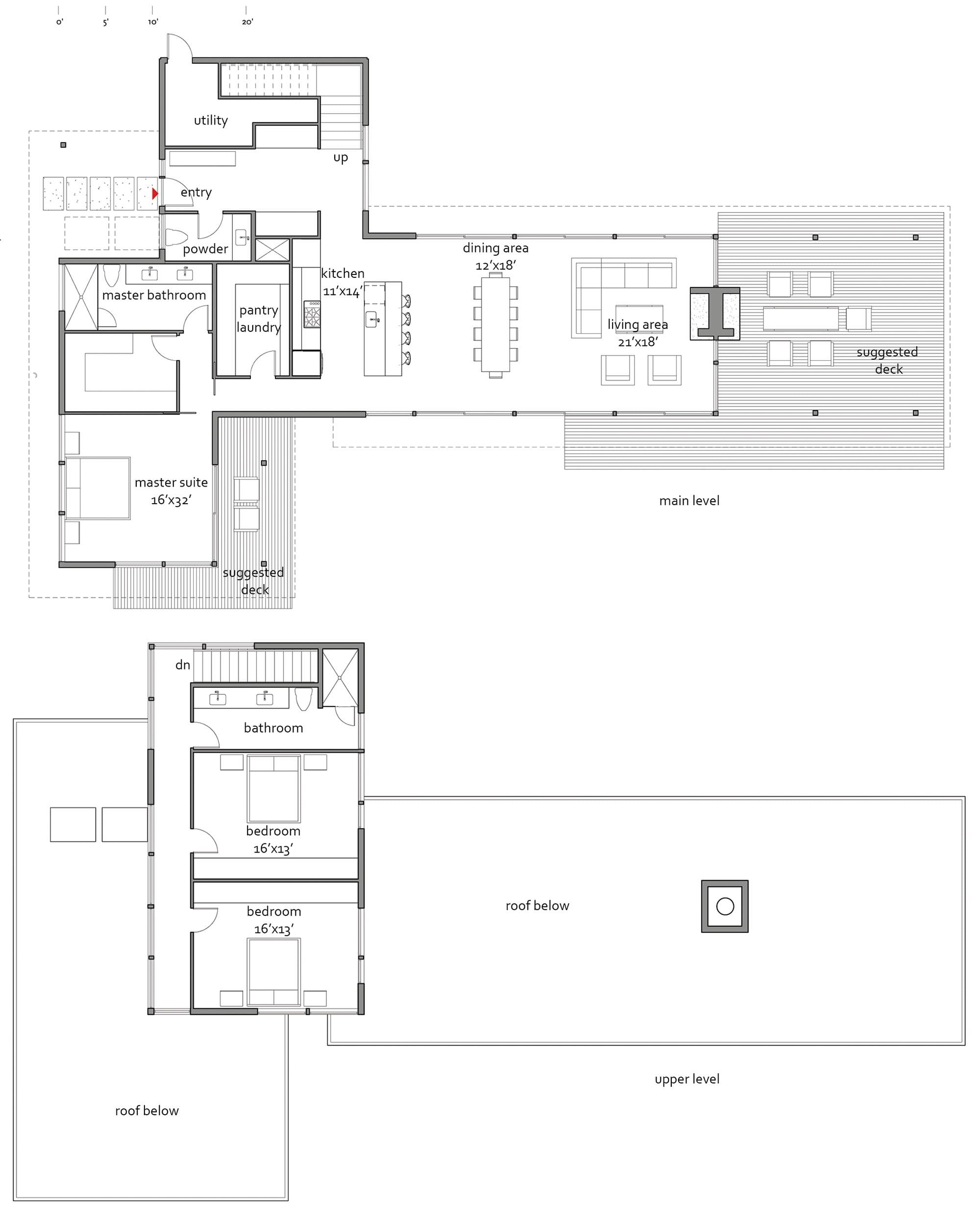 Marmol radziner 2810 lindal architects collaborative Cedar homes floor plans