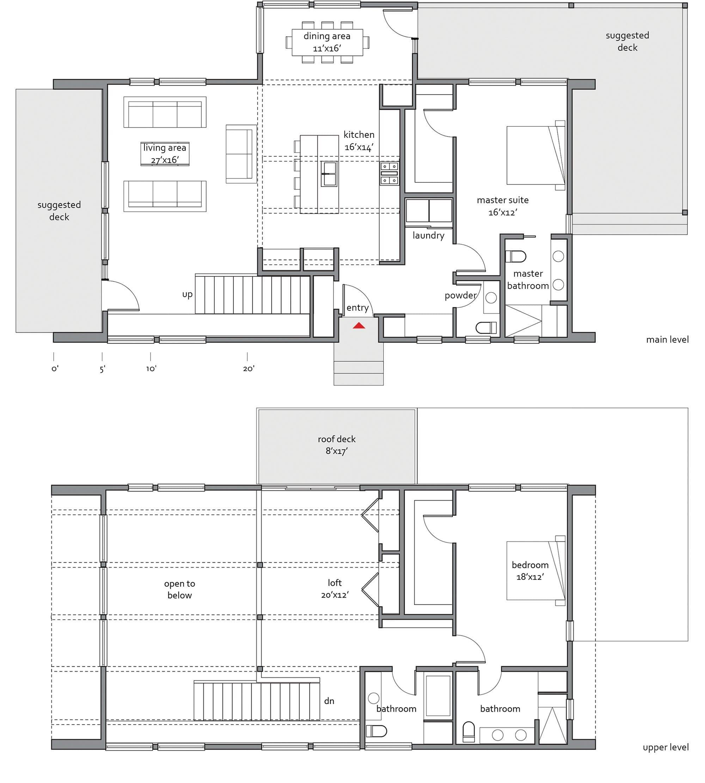 Zeroenergy 2330 home design for lindal cedar homes for Lindal home plans