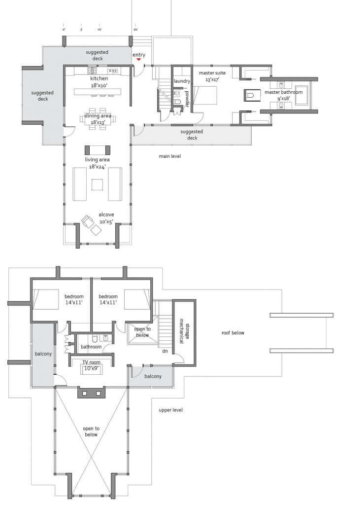 Frank lloyd wright taliesin 2840 lindal architects for Lindal homes floor plans
