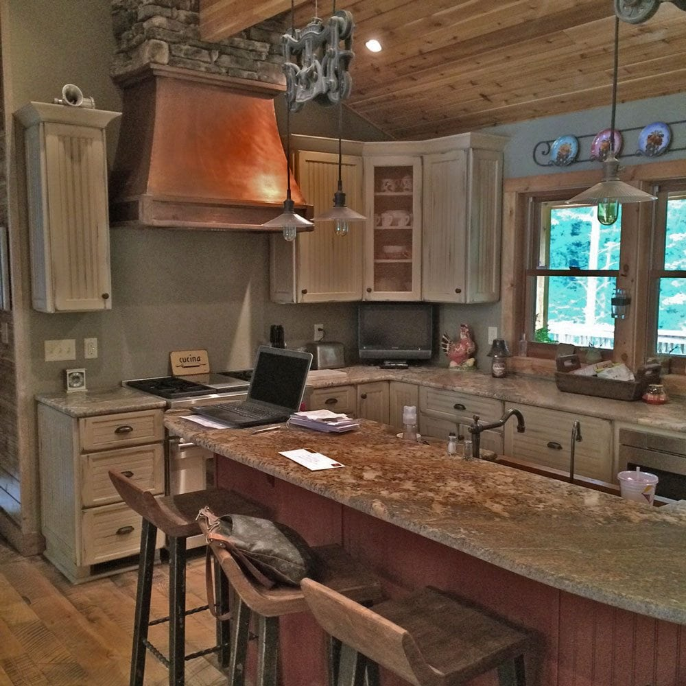 Classic lindal cedar log home style modern building - Custom kitchen appliances ...