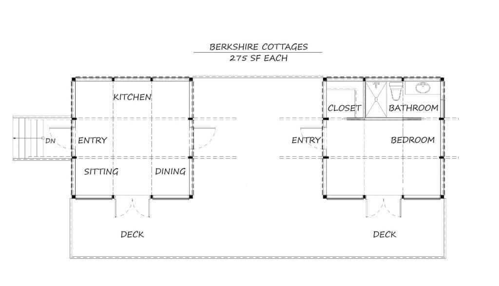 Backyard Cottages Berkshire Cottages Floor Plans