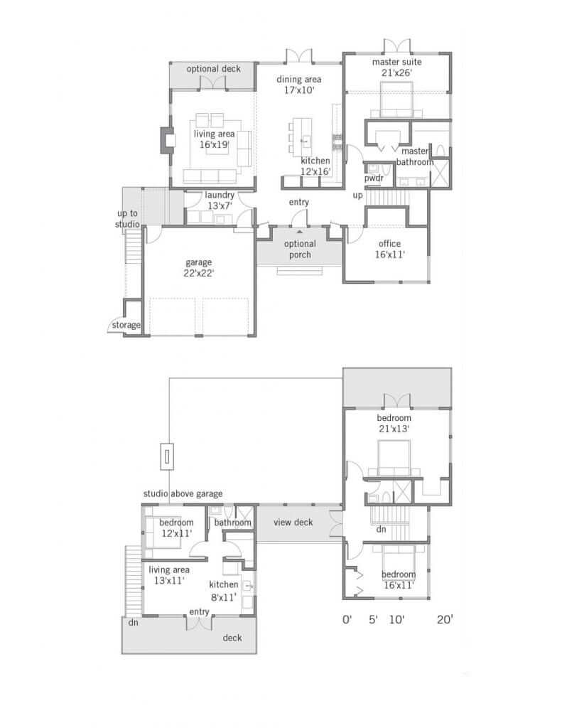 Custom Elements Modern Home Cascade 2493 Floor Plan