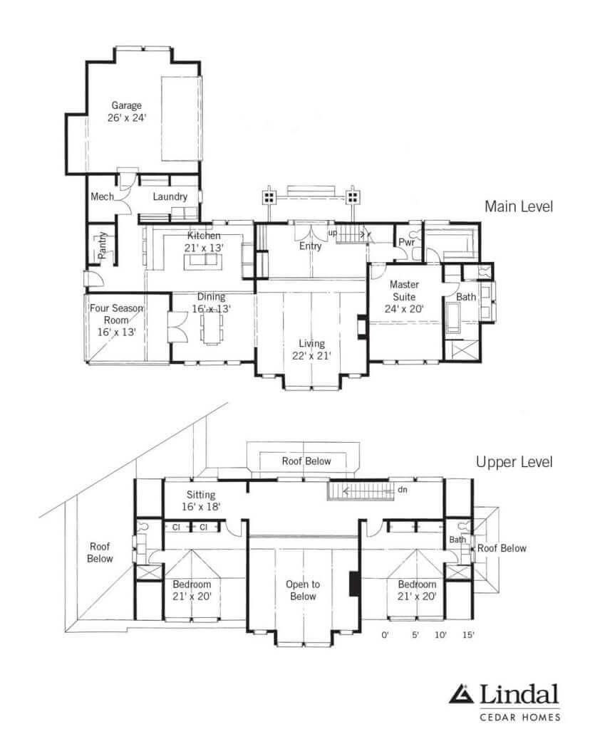 Creekside Lodge Floor Plan Lindal Cedar Homes