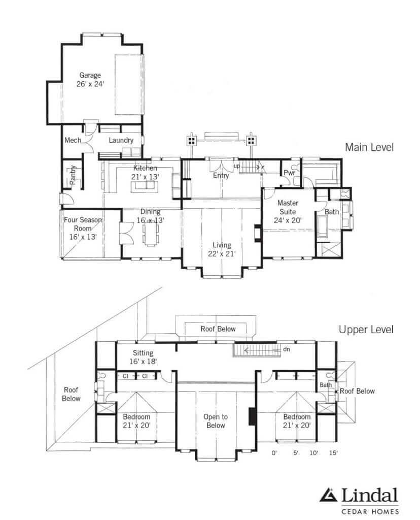 Creekside Lodge Floor Plan Lindal Cedar Homes