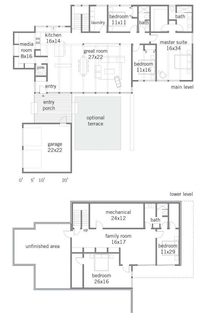 Lindal Elements Cypress 4285 Floor Plans
