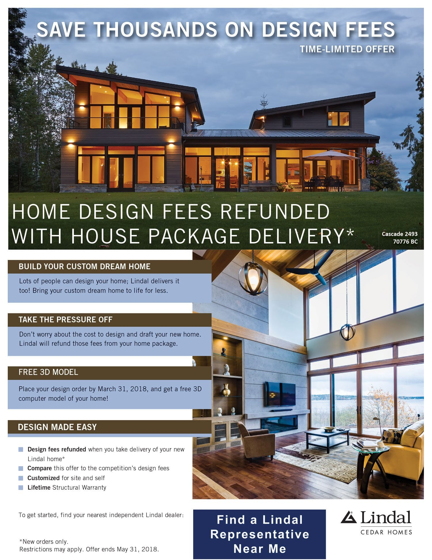 Sales | Discounts | Promotions | Lindal Cedar Homes