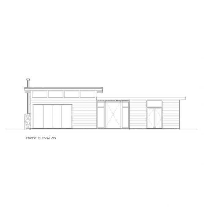 Quick Ship-Cedar-Modern Home-41706-Front-Elevation