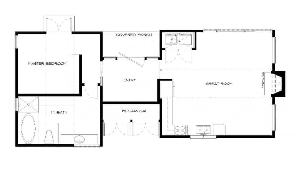 Quick Ship Modern-Cedar_EL-small home41706-Floor-Plan