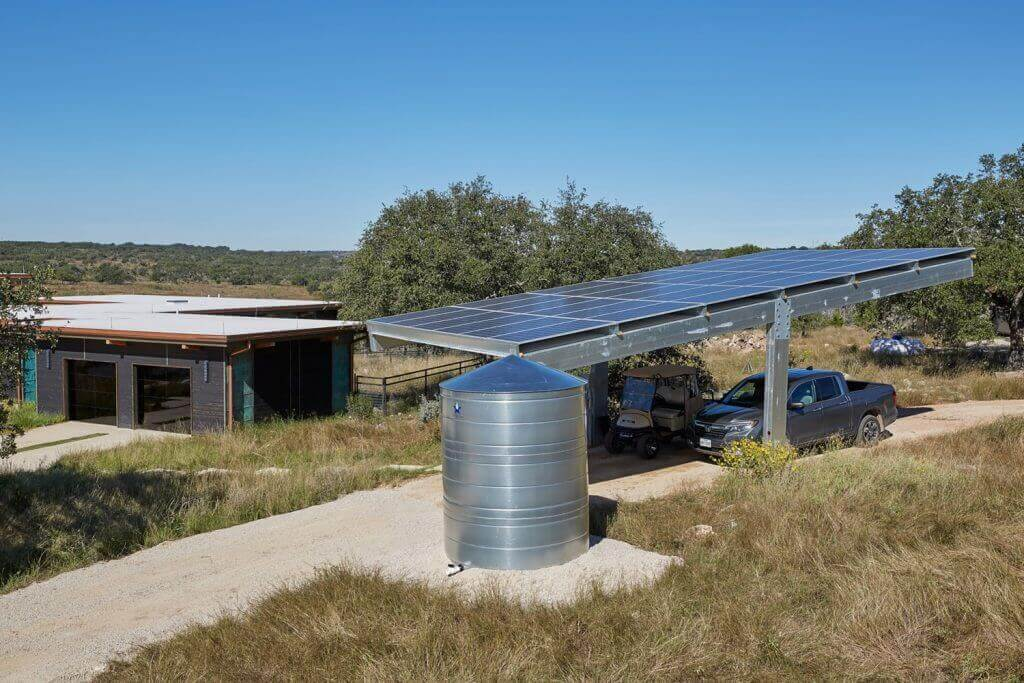 solar panels carport hestia texas eco friendly home