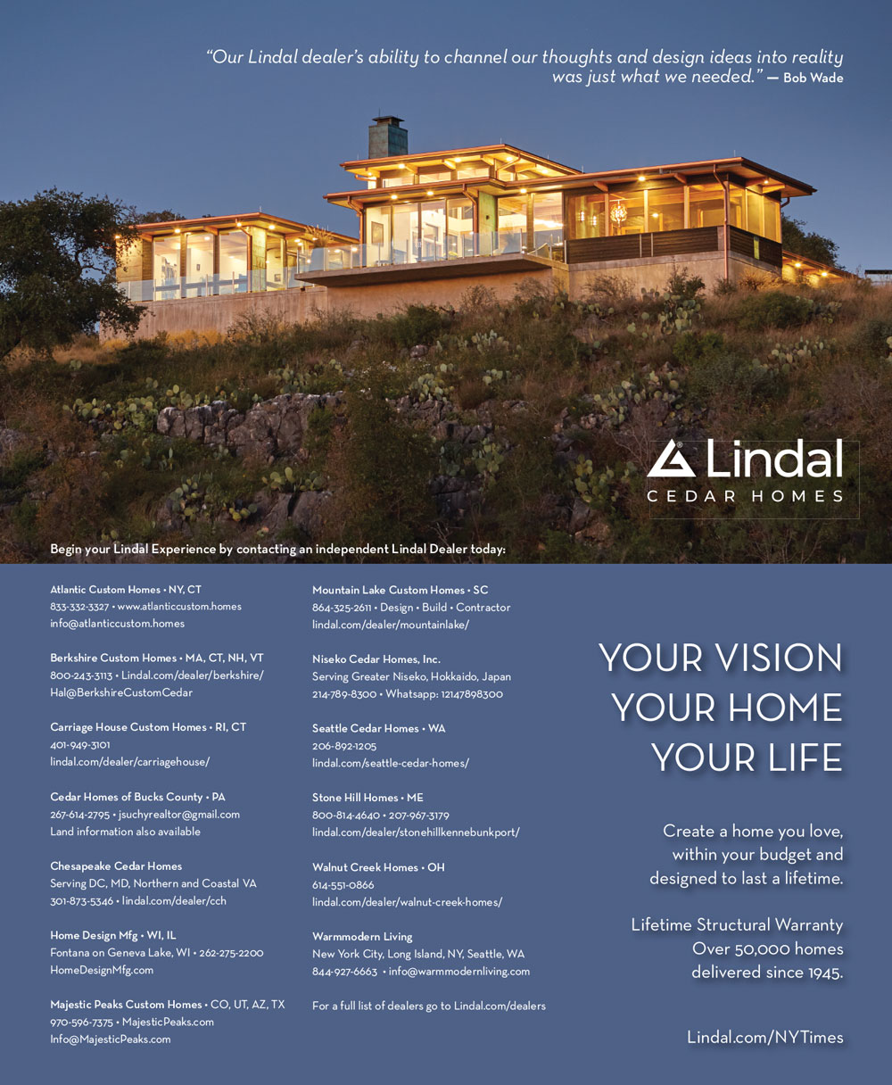 New York Times Lindal Cedar Homes ad 2020