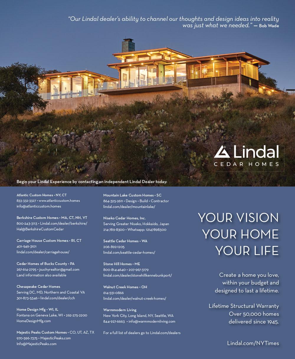 New York Times Lindal Cedar Homes ad 2020