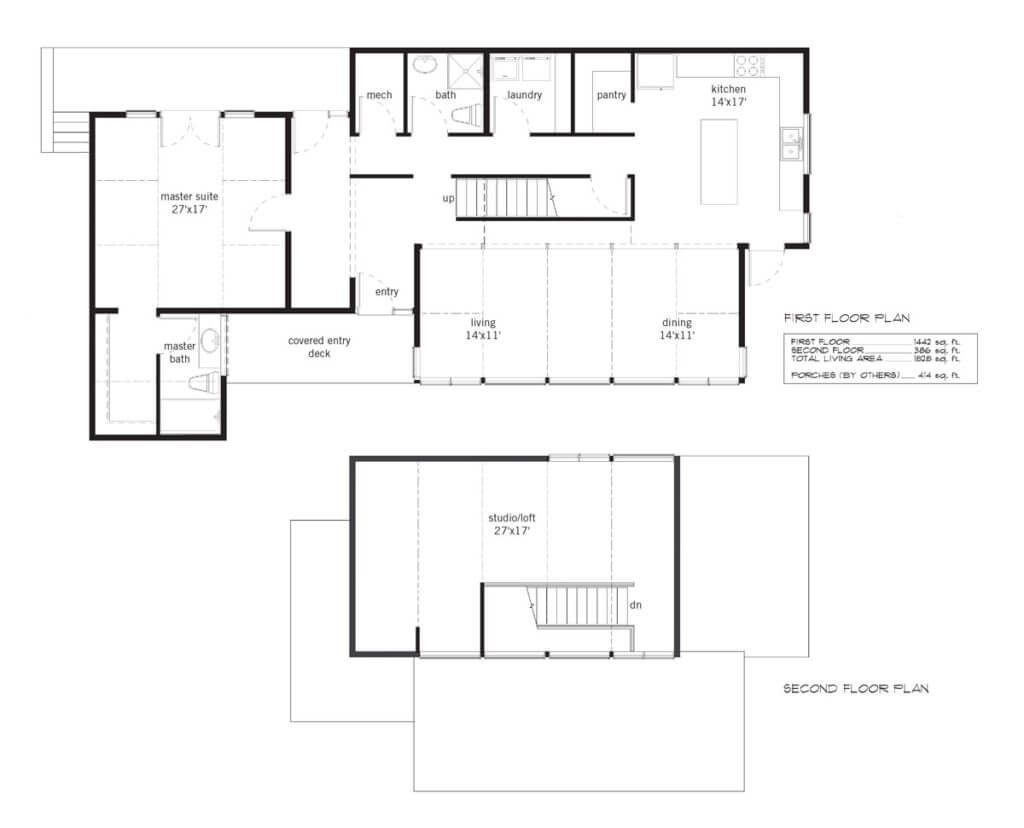 Floor plan Quick Ship Georgia custom home design