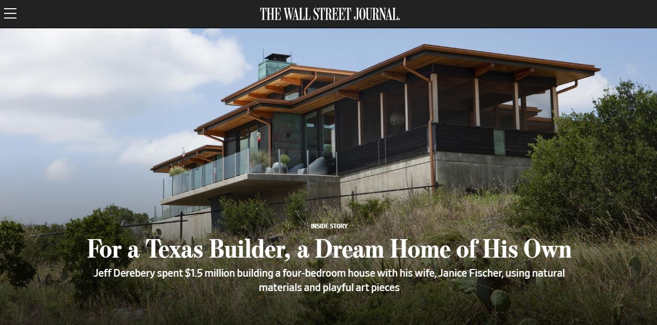 cover image Lindal Cedar Homes in the Wall Street Journal