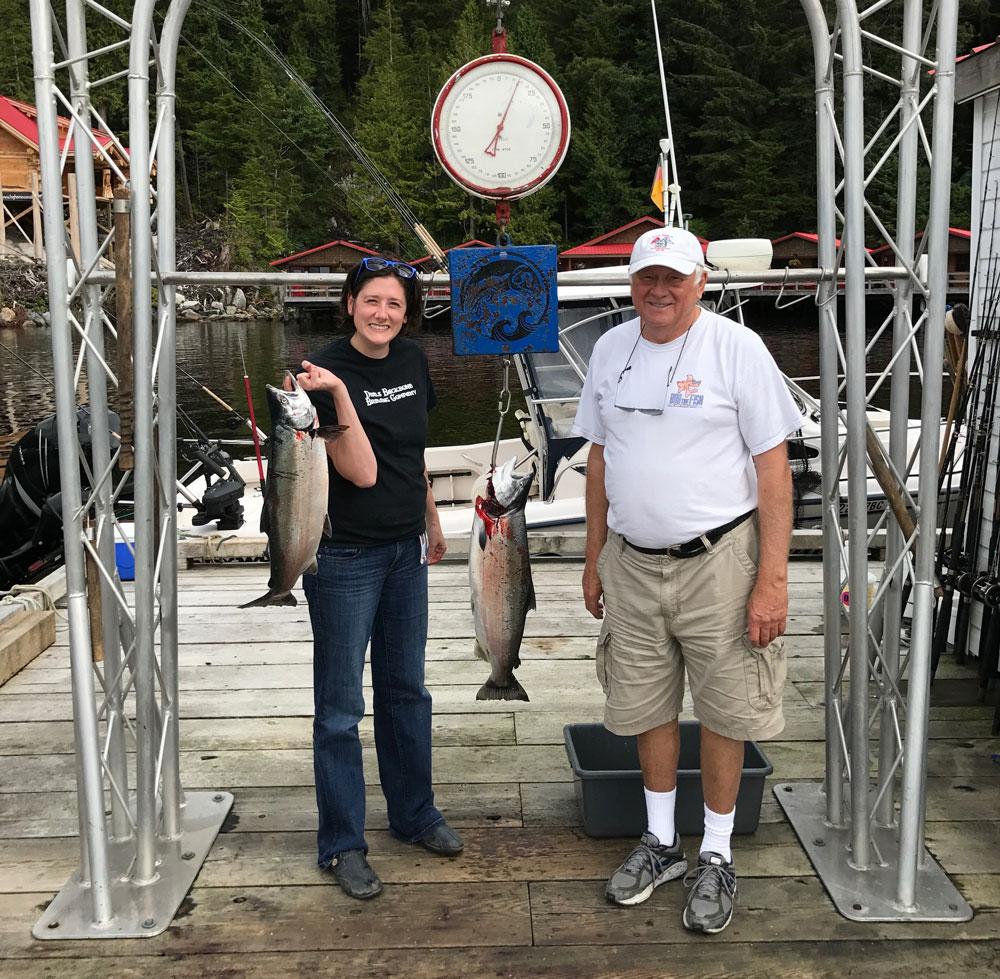 Christina and Bob Lindal on vacation
