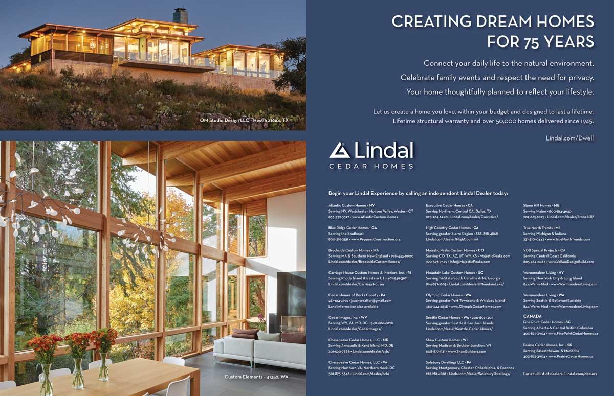 Dwell ad Lindal Cedar Homes Sep 2020
