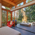 41352 Elements Contemporary house bedroom to outside