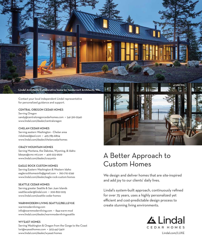 LUXE Magazine Lindal Architect Collaborative