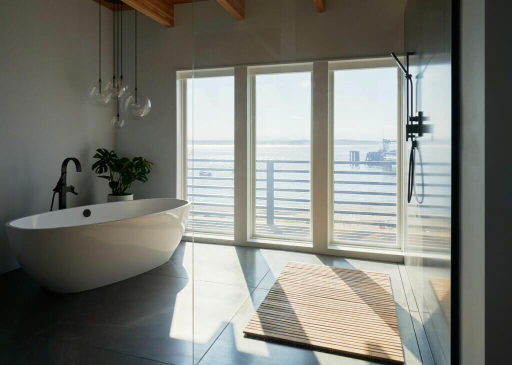 master bath ocean view