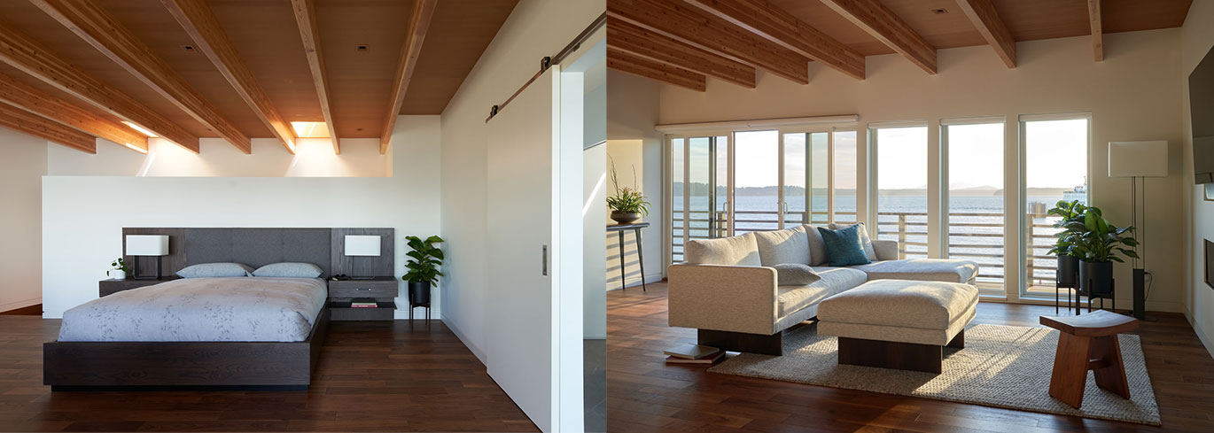 Beach House Bedroom Design with Deck